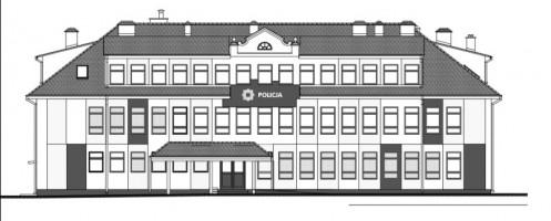 zdjęcie z przebudowy Komenda Powiatowa Policji