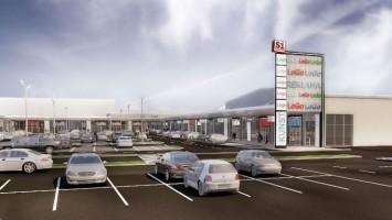 zdjęcie z przebudowy Retail Park