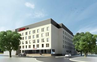 zdjęcie z budowy Hampton by Hilton Białystok