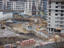 zdjęcie z budowy Grzegórzki Park