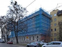 zdjęcie z przebudowy Hotel studencki LaS