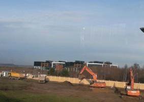 zdjęcie z budowy Airport City Gdańsk
