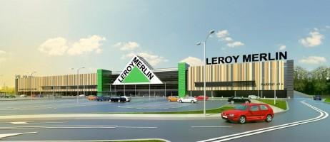 zdjęcie z budowy Market budowlany Leroy Merlin