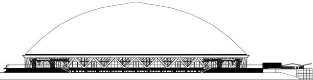 zdjęcie z przebudowy Hala widowiskowo-sportowa Okrąglak