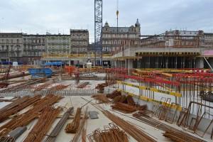zdjęcie z budowy Angel City Wrocław