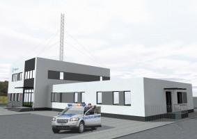 zdjęcie z budowy Komisariat Policji