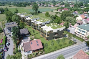 zdjęcie z budowy Łokietka Apartments