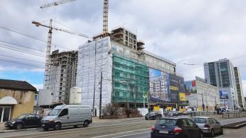 zdjęcie z budowy Famma Dąbrowskiego