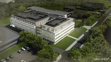zdjęcie z budowy Siedziba laboratorium centralnego Diagnostyki