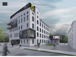zdjęcie z przebudowy Fabryka Przedsiębiorczości