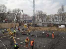 zdjęcie z budowy LaPraga