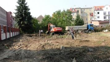 zdjęcie z budowy Planty Park nad Fosą