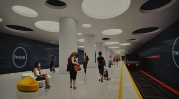 wizualizacje Stacja metra C-7 Młynów