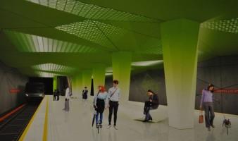 wizualizacje Stacja metra C-6 Księcia Janusza