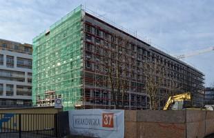 zdjęcie z budowy Biurowiec Krakowska 35