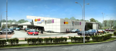 zdjęcie z budowy Centrum handlowe Mińska 58 Codzienne Zakupy