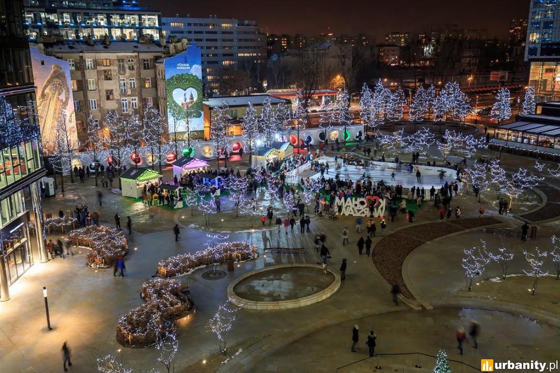 Wygląd placu Europejskiego na święta Bożego Narodzenia