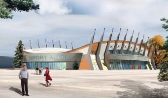 zdjęcie z budowy Sport Arena Nysa