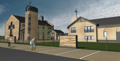 zdjęcie z budowy Kościół pw. Dobrego Pasterza