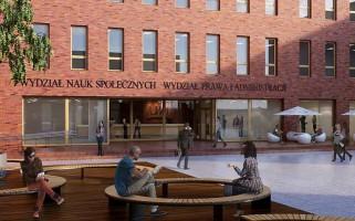 zdjęcie z budowy Wydział Prawa i Administracji oraz Wydział Nauk Społecznych