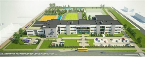 zdjęcie Szkoła podstawowa z przedszkolem i halą sportową