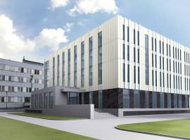 zdjęcie z budowy Nowa siedziba Fizyki i Informatyki Stosowanej