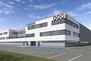 zdjęcie z budowy Zakład produkcyjny Corning Optical