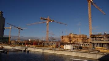 zdjęcie z budowy Yacht Park