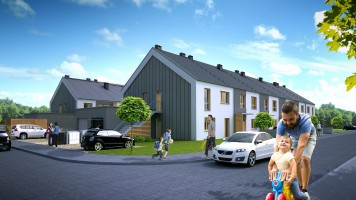 zdjęcie z budowy Mirków Osiedle Rodzinne