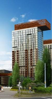 wizualizacje Centrum Stocznia - apartamentowiec A