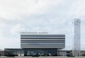 wizualizacje Dworzec Częstochowa Główna