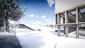 wizualizacje Całoroczne Centrum Sportów Zimowych