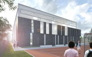 zdjęcie z budowy Hala sportowa IV Liceum Ogólnokształcącego im. Gen. Stanisława Maczka
