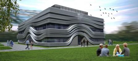 zdjęcie z budowy Laboratorium Aerodynamiki Środowiskowej Politechniki Krakowskiej