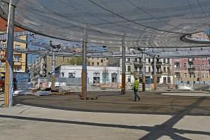 zdjęcie z przebudowy Rynek Łazarski