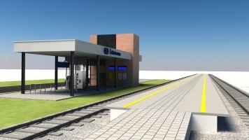 zdjęcie z budowy [Żelistrzewo] Dworzec kolejowy