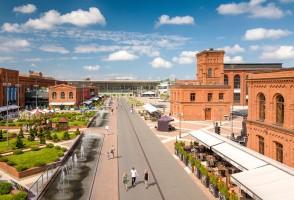zdjęcie z przebudowy Centrum Handlowe Manufaktura