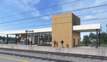 zdjęcie z budowy [Kornelin] Dworzec kolejowy