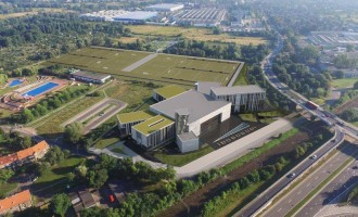 zdjęcie z budowy Centrum Sportowo-Rekreacyjne Ślęza Wrocław