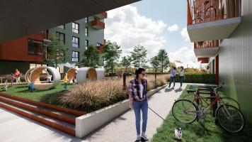 zdjęcie z budowy Mieszkaj w Mieście - Osiedle Wizjonerów