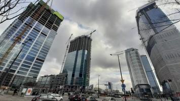 zdjęcie z budowy Warsaw Unit