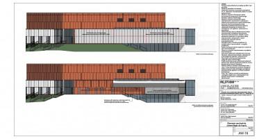 zdjęcie z budowy Suwałki Arena