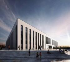 zdjęcie z budowy Wydział Architektury oraz Inżynierii Zarządzania