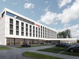 zdjęcie z budowy Hampton by Hilton Swarzędz Poznań