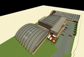 zdjęcie z budowy Wielofunkcyjny Obiekt Sportowo-Rekreacyjny