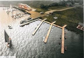 zdjęcie z budowy Przystań jachtowa Łunowo