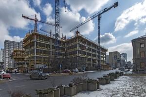 zdjęcie z budowy Mennica Legacy Tower