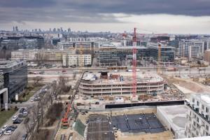 zdjęcie z budowy Biurowiec DSV