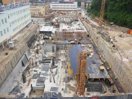 zdjęcie z budowy Centrum Medycyny Nieinwazyjnej