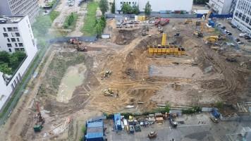 zdjęcie z budowy Towarowa Towers